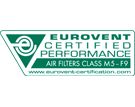 maxipleat mx75 cassettefilter luchtfiltratie Eurovent certified performance